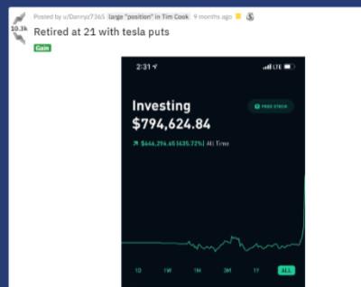 Stock Trading App example